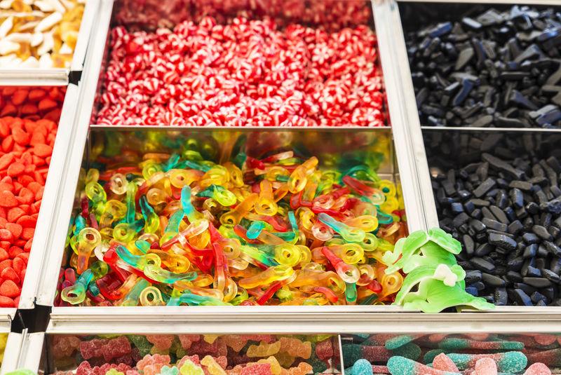 糖果店的各种糖果