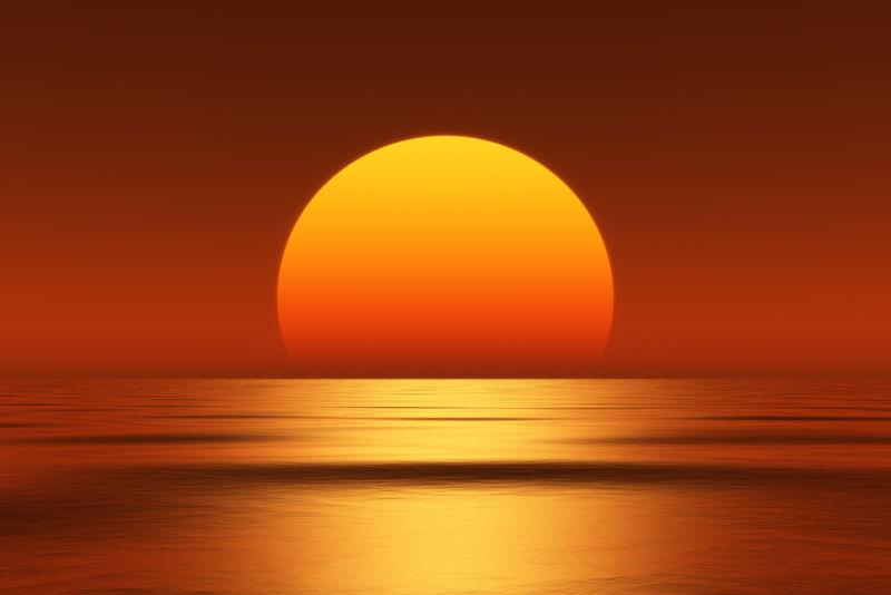 美丽的日落