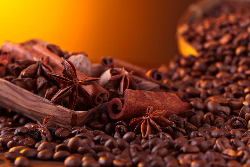 烘焙咖啡豆配香料