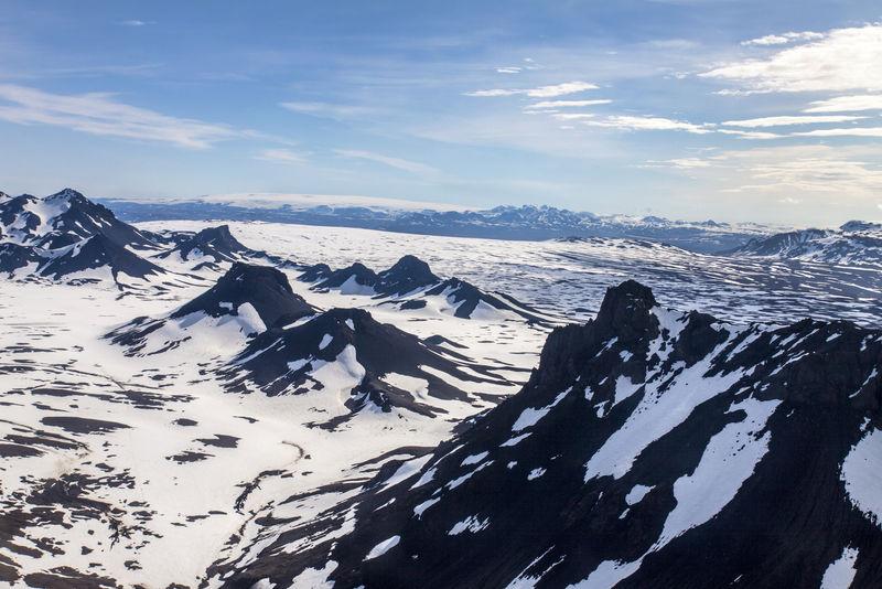 冰岛山脉-鸟瞰图