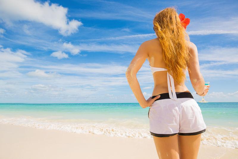 热带海滩享受热带海滩轻松快乐