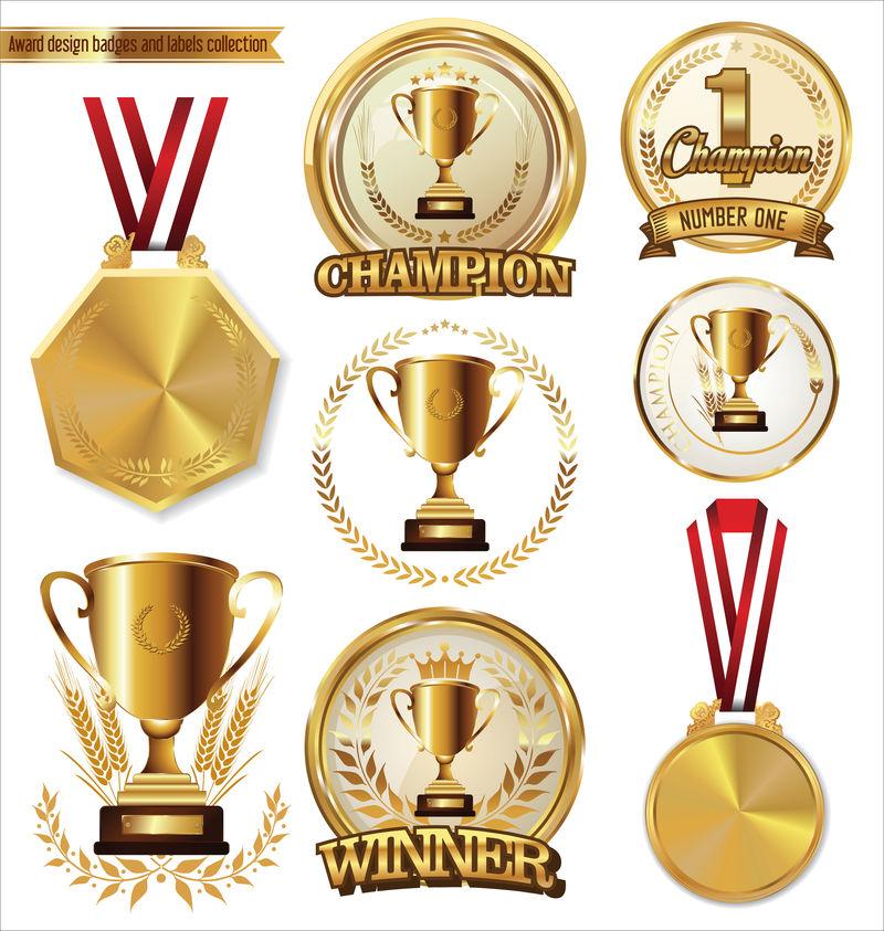 奖励设计徽章和标签收藏