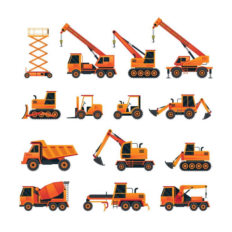 工程车辆对象橙套