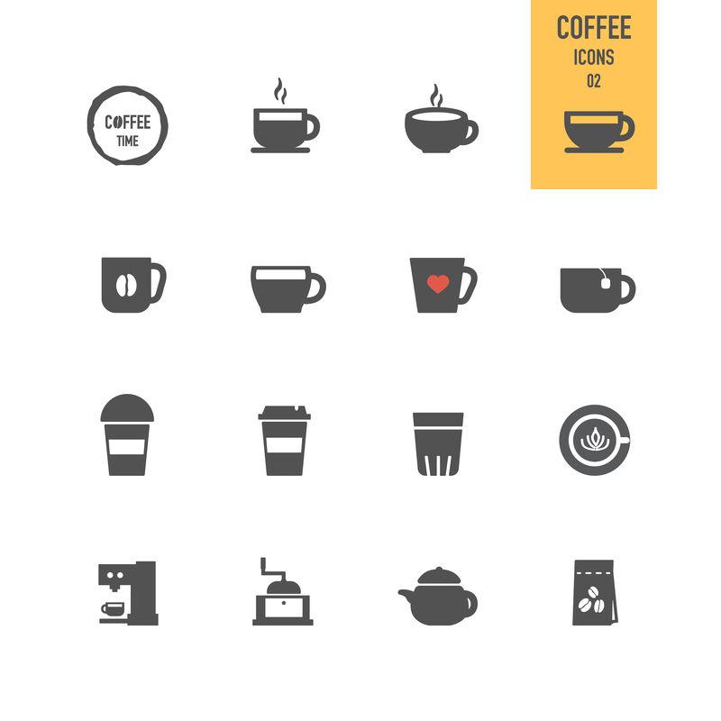 咖啡偶像-矢量图解