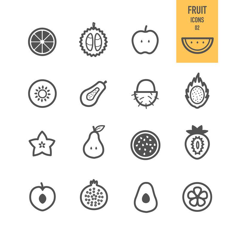 水果图标-切片水果-矢量图解