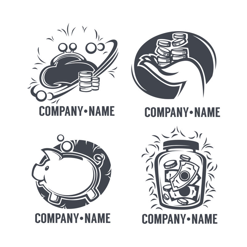银行、信贷、金融、图标、标志和标志