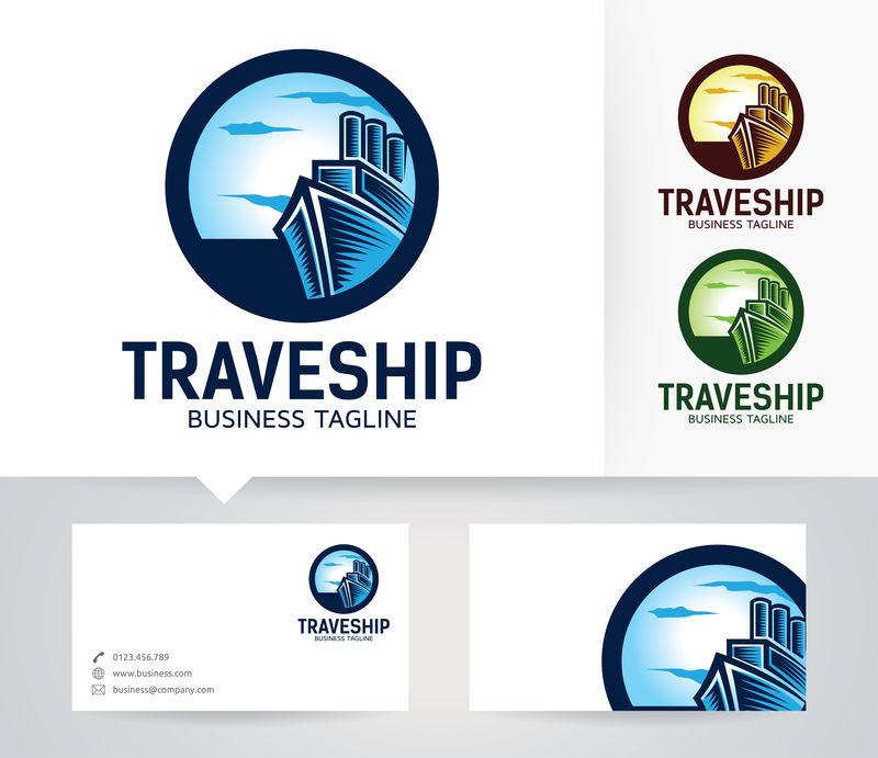 旅游船标志-矢量标志模板