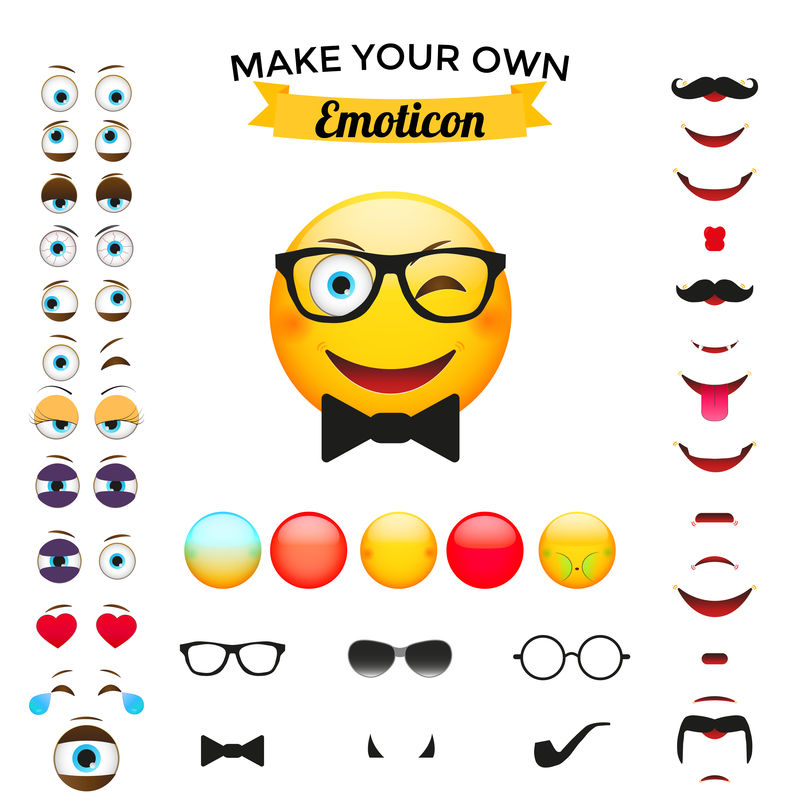 表情构造器-emoji creator集合向量