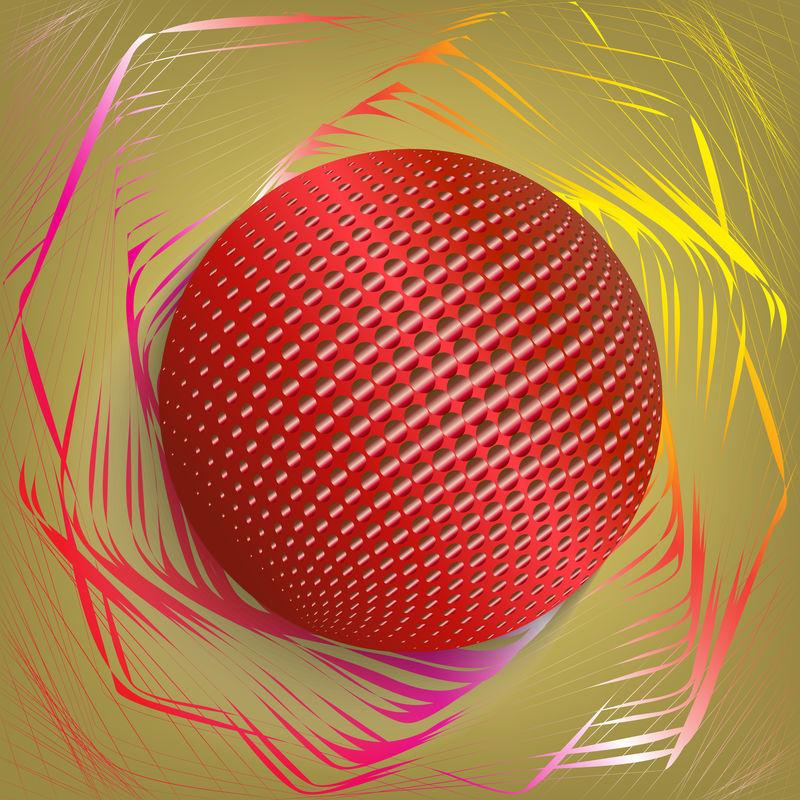 红色球体-矢量