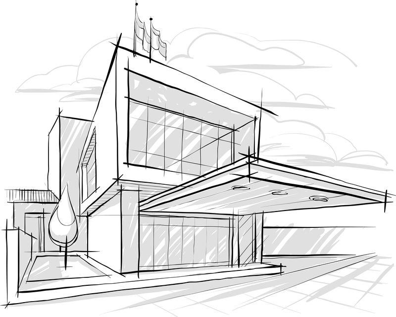 建筑素描-插图