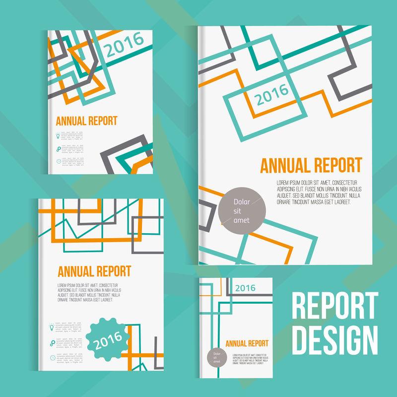 矢量小册子涵盖设计模板与抽象几何线性连接背景为您的业务。