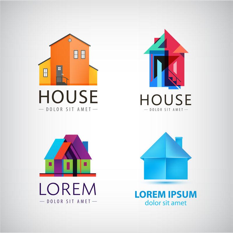 房屋标识、房产、房地产矢量集
