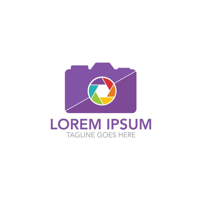 摄影标志-摄影师标志-相机标志-摄像机插图-照相机图标