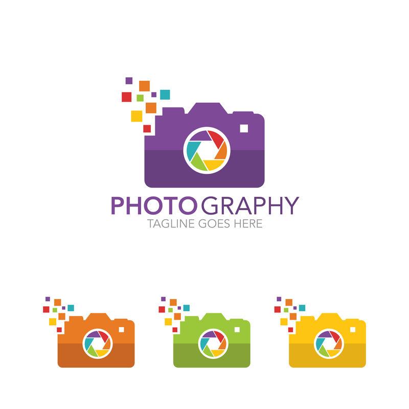 相机-摄影矢量标志模板