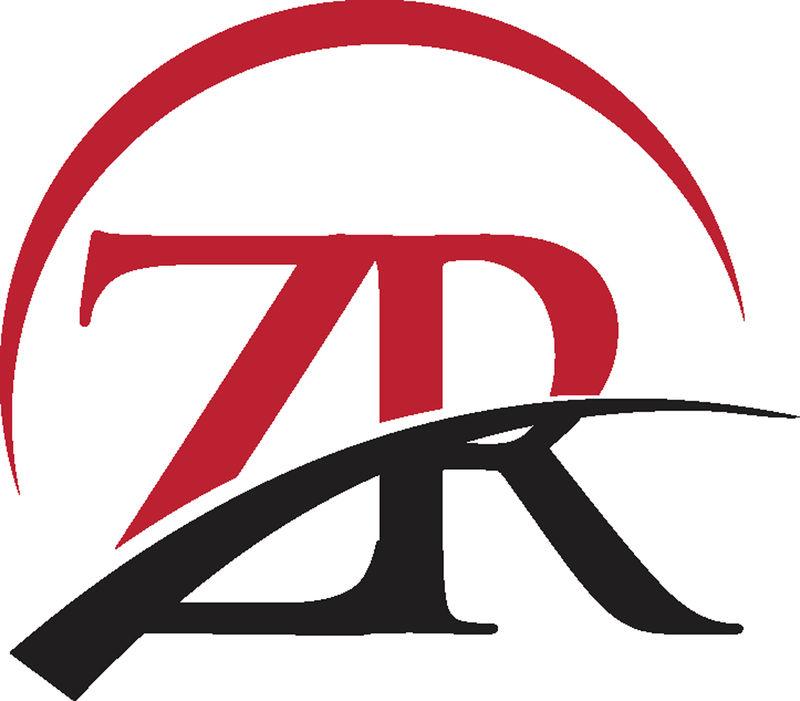 字母ZR链接简单徽标矢量