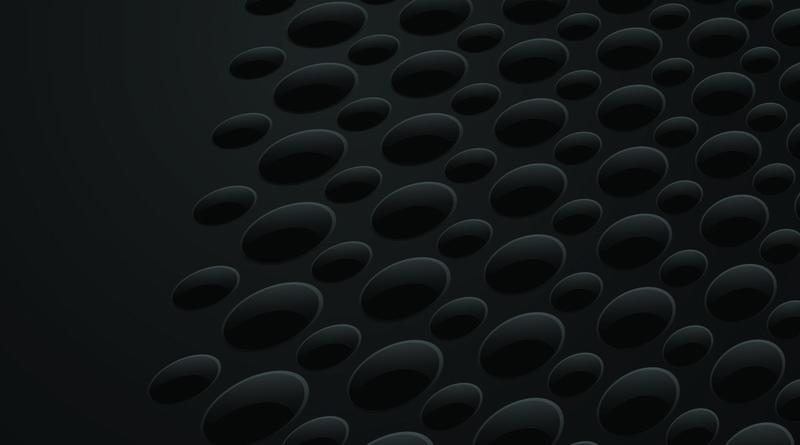 平滑的抽象图案或孔和圆的背景