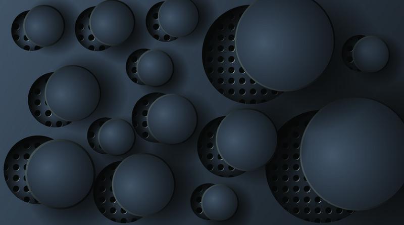 带孔的抽象矢量圆背景