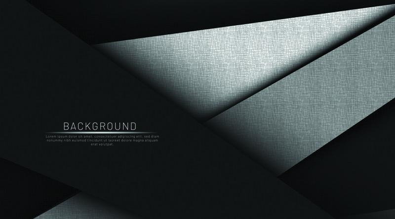 抽象的黑色和黑色背景重叠颜色向量illustra