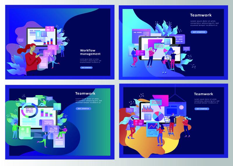 企业概念图解-上班族进化尺度分析-搜索引擎优化-市场调研网站编码-互联网搜索优化-登录页模板-社交媒体