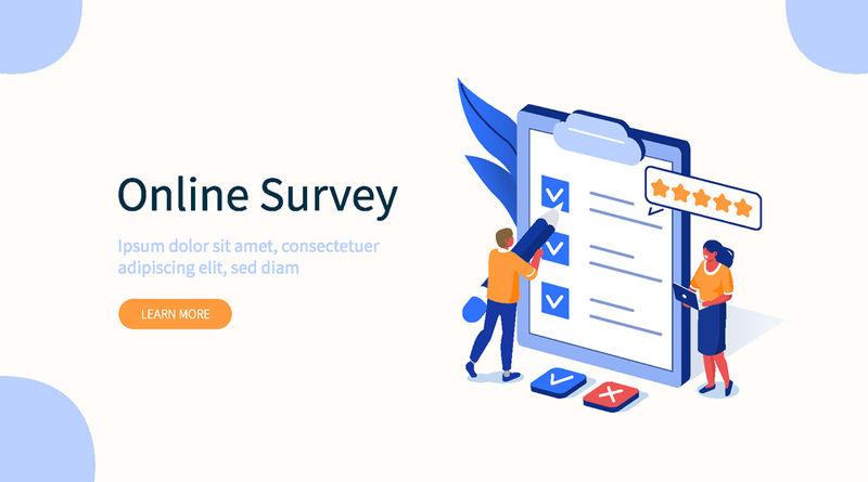 在线投票矢量插图概念-适用于网页登录、用户界面、移动应用、编辑设计、传单、横幅等相关场合