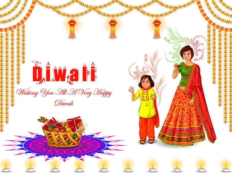 在维克多-孩子们正在享受庆祝印度排灯节的鞭炮