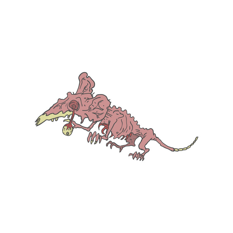 鼠怪僵尸轮廓图