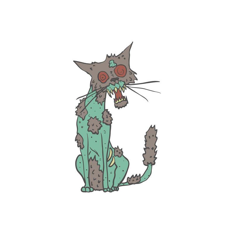 猫怪僵尸轮廓图
