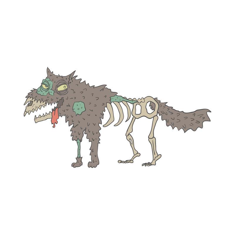 狗怪僵尸轮廓图