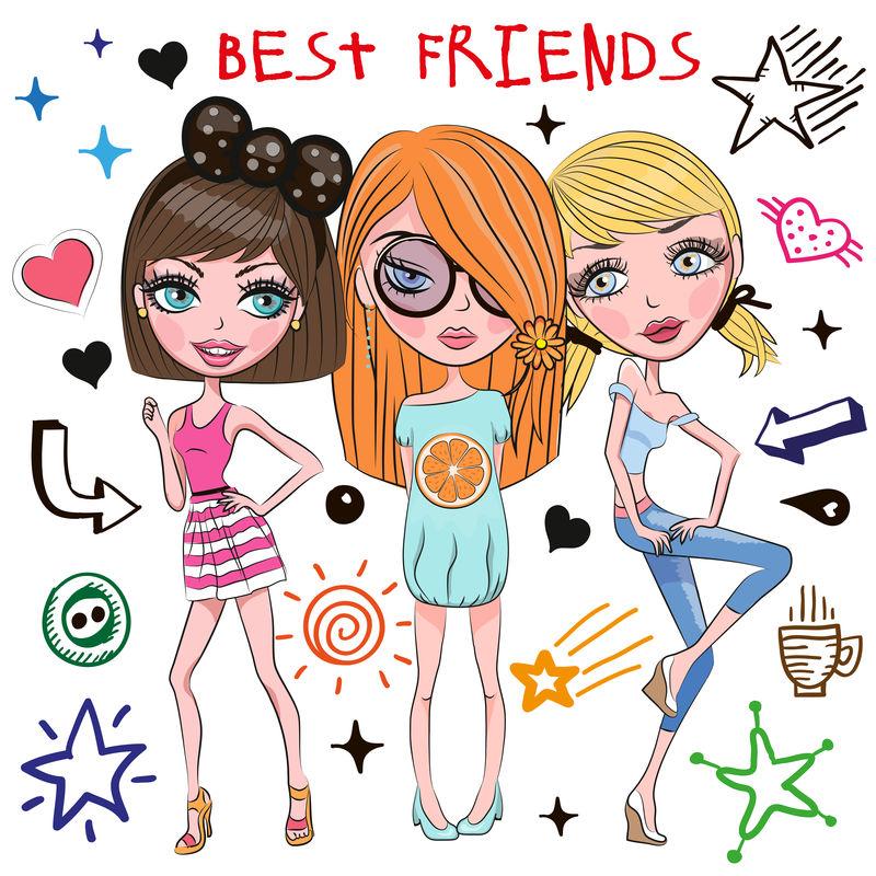 三个可爱的女孩