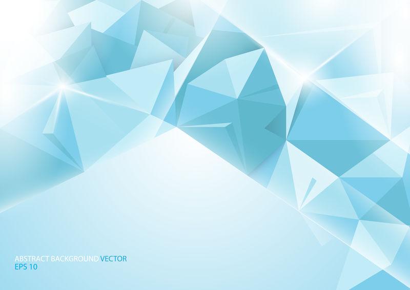 抽象的蓝色背景。几何概念