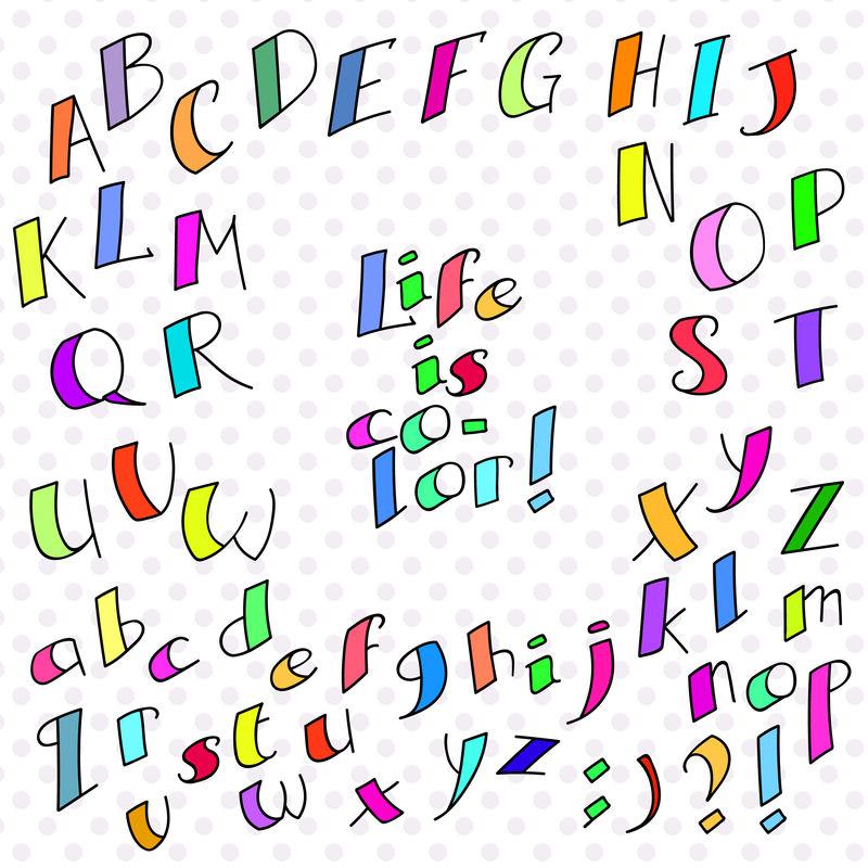 彩色滑稽字体