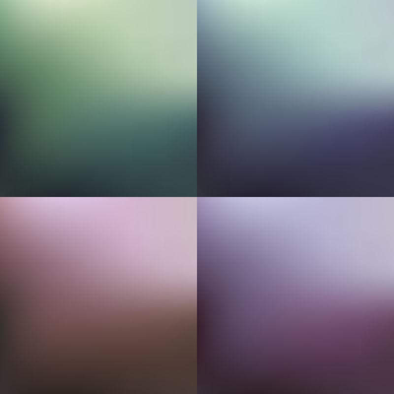 一组模糊的抽象背景,矢量