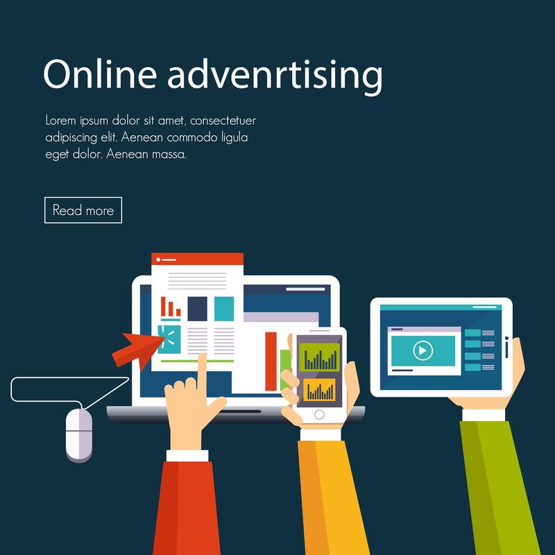 网络广告与网络购物矢量平台