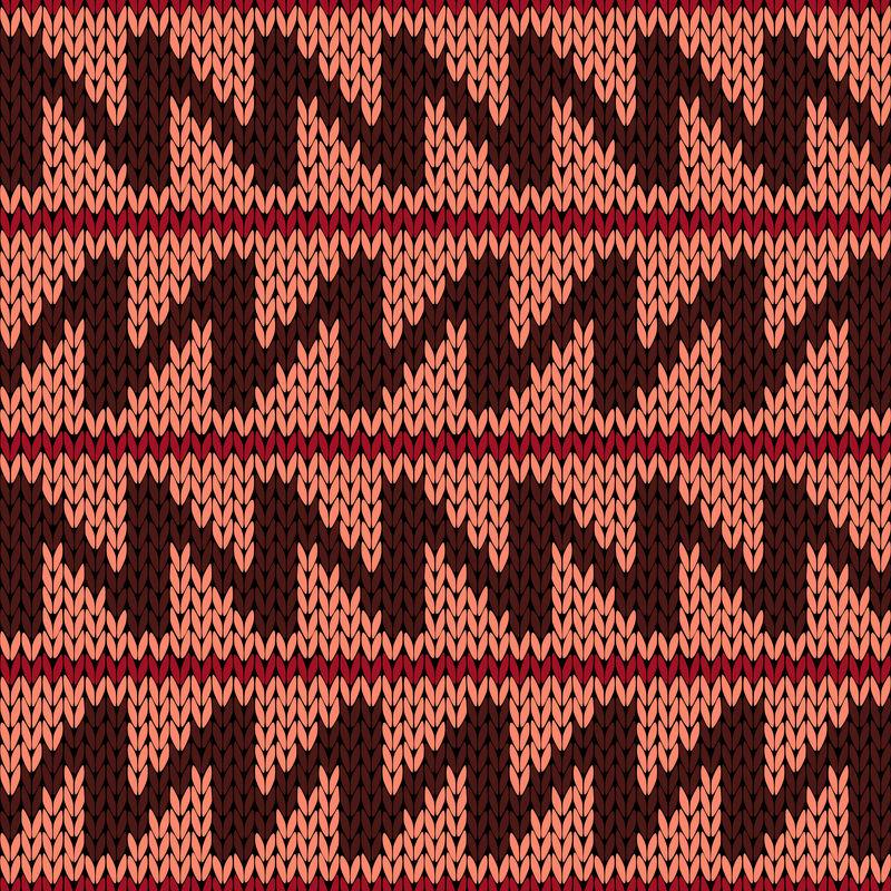 编织锯齿线华丽无缝图案