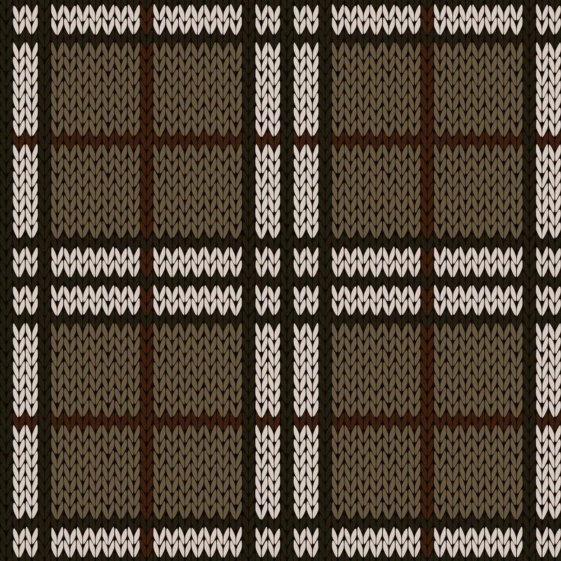 柔和暖色针织无缝图案