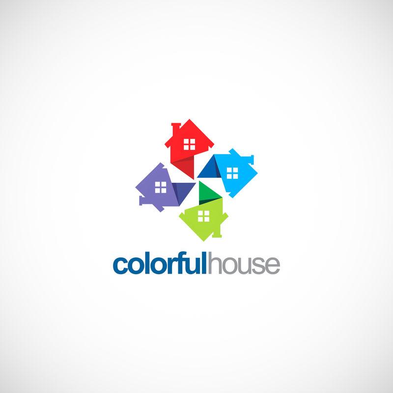 房地产标志符号模板设计载体、标志、设计理念、创意符号、图标