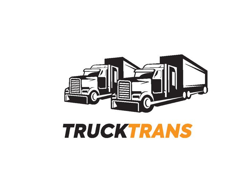 卡车标志、货物、交货、物流的模板
