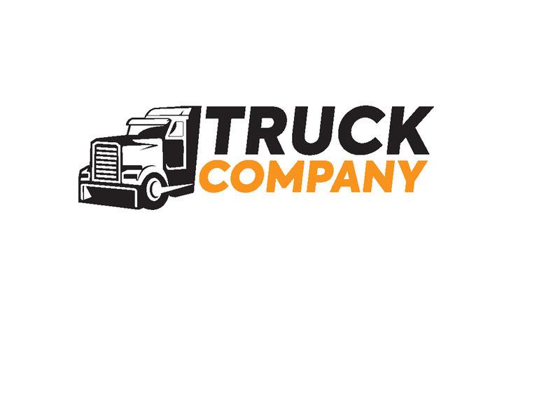卡车标志-交通-单色风格-矢量图解