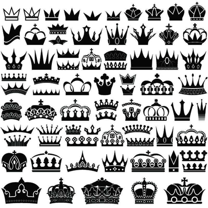 皇冠图标系列-矢量隔离轮廓