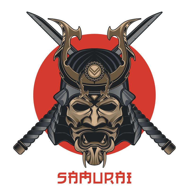 日本武士面具
