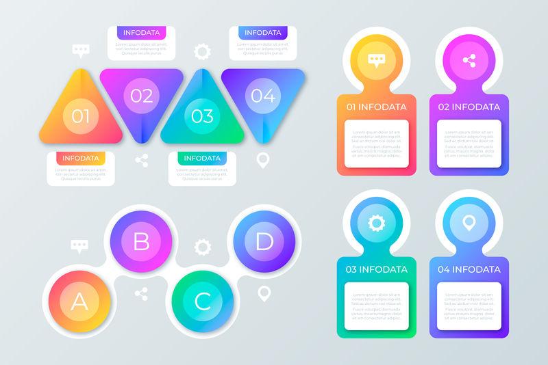 用于业务概念和图标的信息图形时间线模板-可用于工作流布局、图表、数字选项、升级选项、web设计、具有6个步骤的演示文稿选项