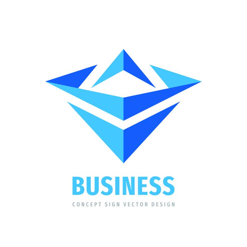 企业发展战略-抽象标志设计-现代科技标志-科学矢量图标