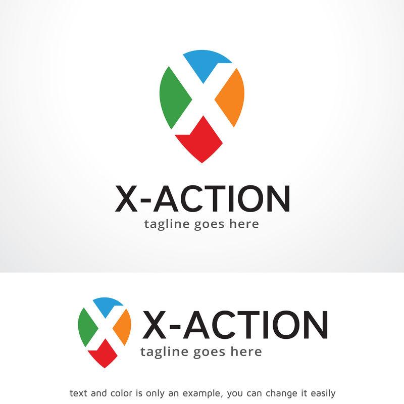 字母X标志模板设计矢量、标志、设计理念、创意符号、图标