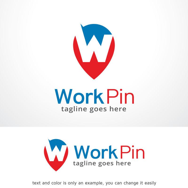 字母W标志模板设计矢量、标志、设计理念、创意符号、图标