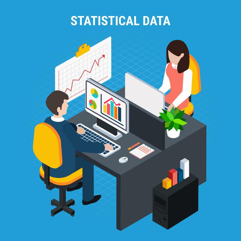 统计数据等距背景