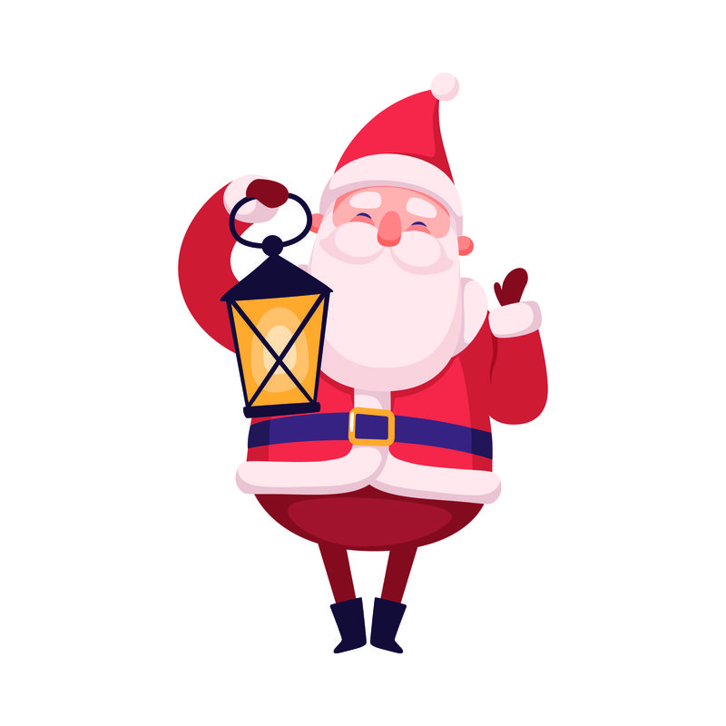 可爱的红鼻子矢量圣诞老人