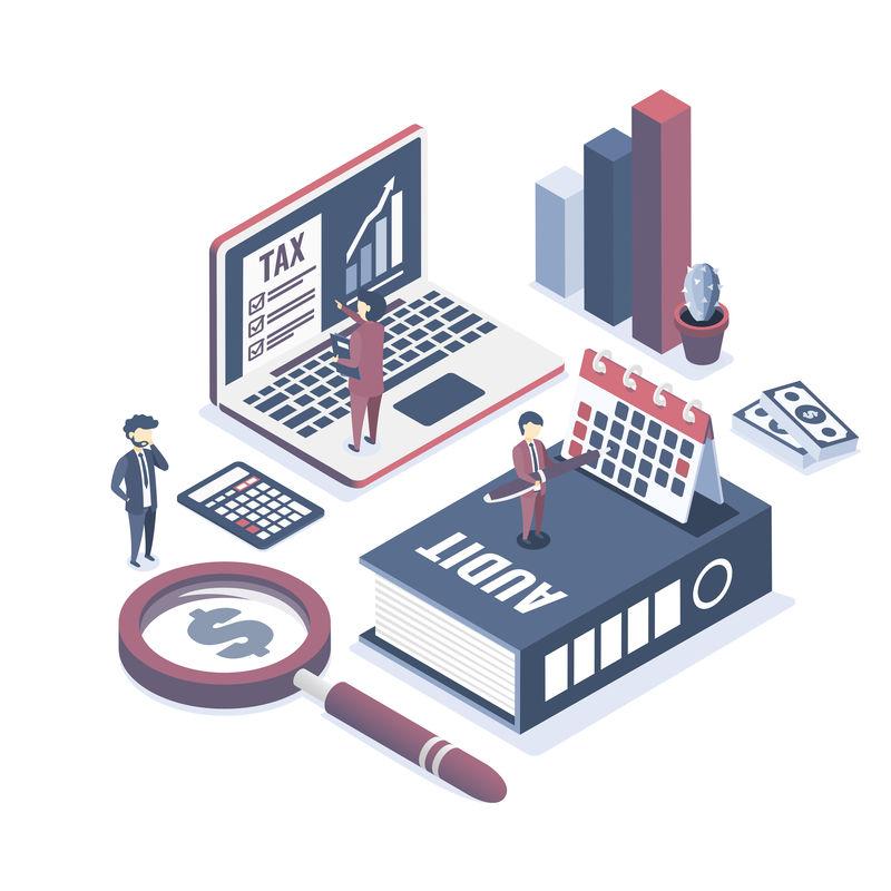 三维信息图形业务数据分析-登录页模板-图表和分析与团队互动的统计数据-用于网站和移动网站-等轴测矢量插图设计