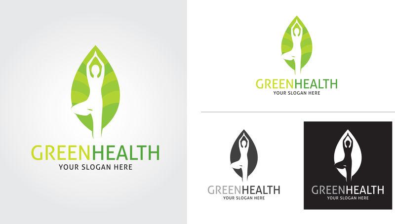 绿色健康标志模板