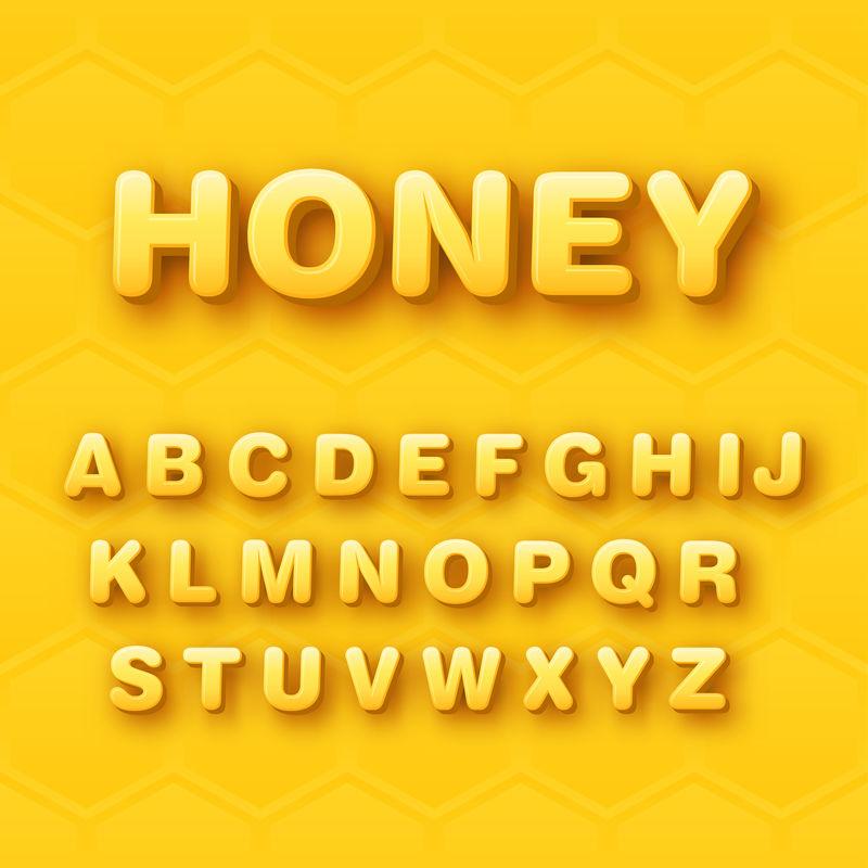 三维圆形字母字体设计矢量
