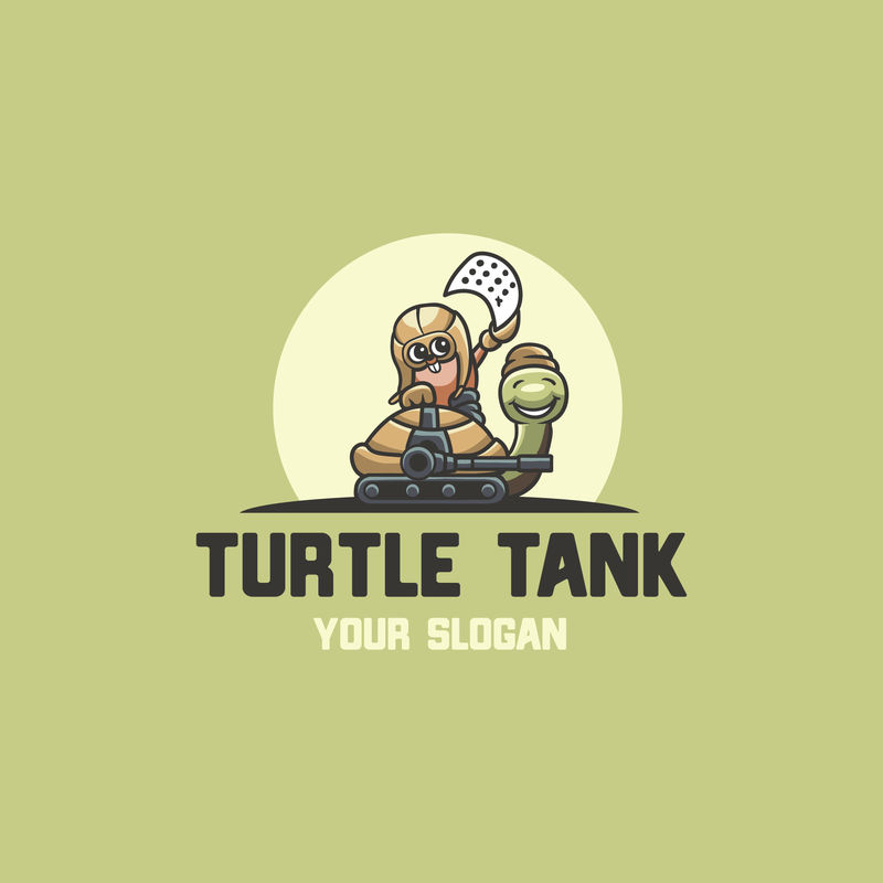 海龟坦克电子竞技标志矢量